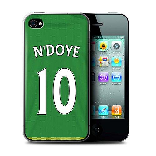 Offiziell Sunderland AFC Hülle / Case für Apple iPhone 4/4S / Pack 24pcs Muster / SAFC Trikot Away 15/16 Kollektion N'Doye