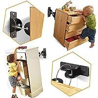 (6 Pack) SYOSIN Cerraduras de Seguridad para Niños, Seguridad Bebe Kit Anclar Muebles, Anclaje Antivuelco Correas para Muebles para Protección de Bebés y Mascotas