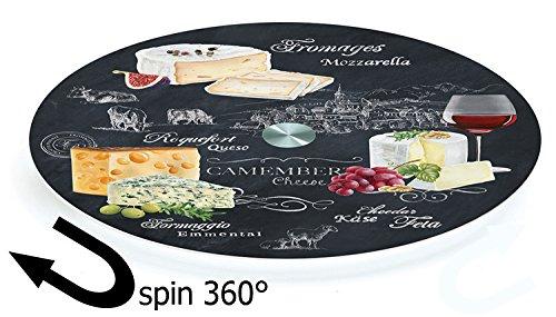Stow verde–mundo de queso–tabla giratoria para servir de cristal