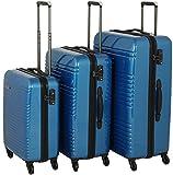 travelite Groovy 4-Rad Trolley-Set 3-tlg 20 marine