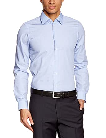 Strellson Premium Herren Businesshemd Slim Fit 11003223 / Quentin, Gr. 42, Blau (325)