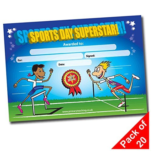 "PRIMARY Teaching Services A5 ""Sport Tag Superstar"" Zertifikat (20 Stück)"