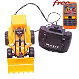 #4: JCB Super Power Truck Deluxe Crane Wire Control RC by Size JMK Toys Color Yellow Free Keypad Water Game