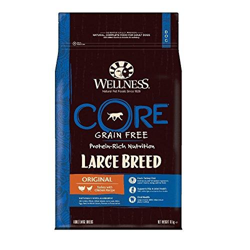 Wellness CORE Large Breed Hundefutter Trocken, Getreidefrei Hoher Fleischanteil, Große Rassen, Pute und Huhn, 10 kg