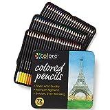 Colore Matite colorate - Set di 72 pastelli pre-temperati di alta qualità per disegnare e colorare - Ideali per la scuola, per adulti e bambini - 72 colori