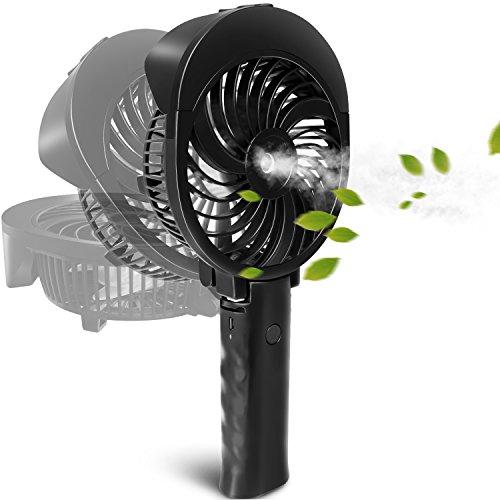 Multi-funktionale Wiederaufladbare Mini Fan 3 Geschwindigkeiten Handheld Tragbare Fans Home Office Travel Air Kühl Desktop Usb Fan Ventilatoren Unterhaltungselektronik