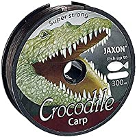 Angel cuerda Jaxon Crocodile Carp 600 M Bobina 0,25 – 0,35 mm monofile para carpas (0,025 €/m), marrón oscuro, 0,30mm / 16kg