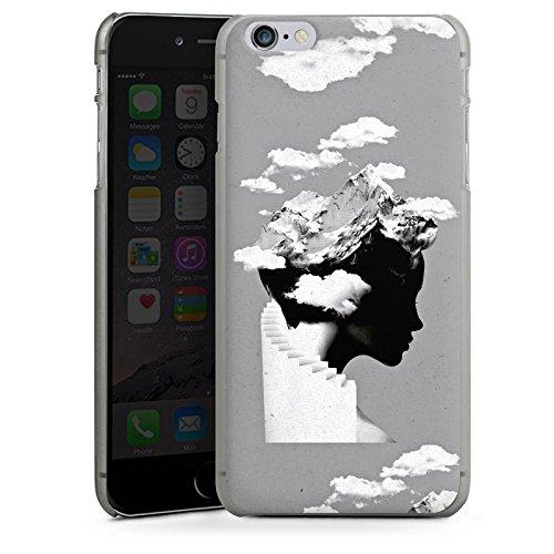 Apple iPhone X Silikon Hülle Case Schutzhülle Silhouette Kopf Wolken Hard Case anthrazit-klar