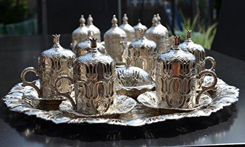 livin'art Orientalischer Mokka-Kaffee Set 27-Teilig Tulpendesign, ideal für 6-Personen,...
