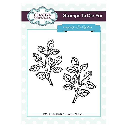 creative-expressions-pre-cut-rubber-stamp-sue-wilson-ums662shaded-orange-blossom-leaves