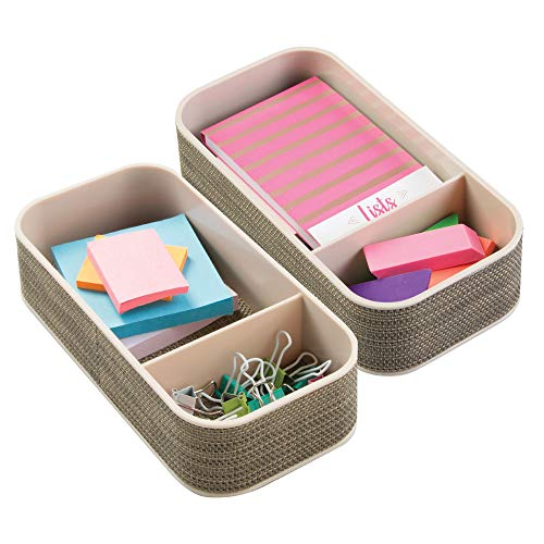 MDesign Juego 2 Organizador escritorio - Caja compartimientos