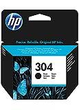 HPN9K06AE 304 Cartucho de Tinta Original, 1 unidad, negro