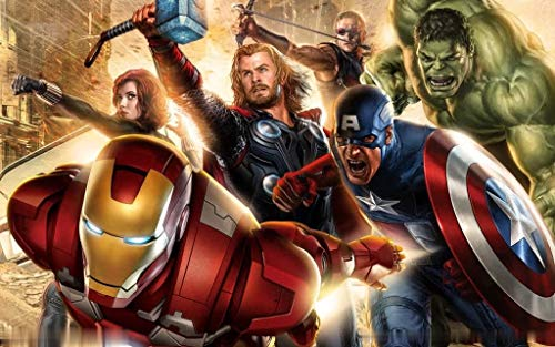 Kreative Wandbild Avengers Liga-film Thema Tapete Kino Tapeten Malerei Weihua (H) 350 * (W) 245cm pro (Pro Kino)