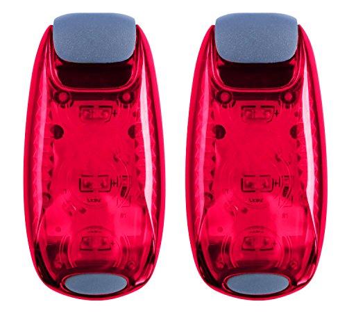 oenbopo LED Sicherheit Licht Fahrrad Vorsicht Licht Lampe Helm Radfahren Clip auf Strobe/Laufen Sicherheit Lichter Nacht Sichtbarkeit für Läufer, Radfahrer, Wanderer, Jogger, Kinder, Hunde, Relais & mehr rot rot