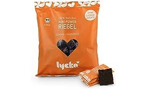 Lycka Mini Power Riegel Schoko-Haselnuss (72 Riegel á 10g), vegane Snacks, natürliche Süßigkeit