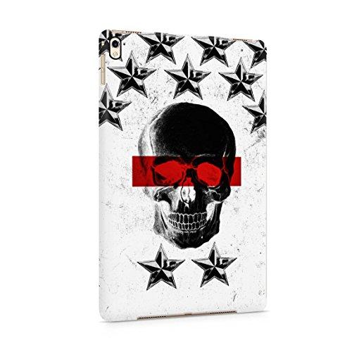 Black Skull Snap (Black Dead Man Skull & Schwarz Stars Pattern Dünne Rückschale aus Hartplastik für iPad Pro 9.7 Tablet Hülle Schutzhülle Slim Fit Case cover)