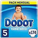 Dodot Bebé-Seco - Pañales para bebé con canales de aire, Talla 5 (11-16 kg) - 174 Pañales