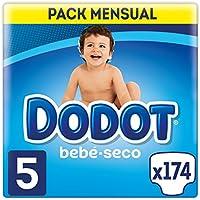 Dodot Bebé-Seco - Pañales Talla 5 Con Canales De Aire, 11-16 kg - 174 Pañales