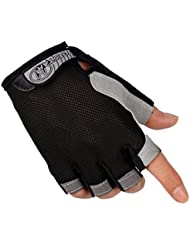 guantes ciclismo Sannysis Guantes de Ciclismo para Hombre Guantes Deportivos (Negro, L)
