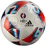 adidas Euro16 J290 Fracas Fußball, White/Bright Blue/Solar Red/Silver Metallic, 5