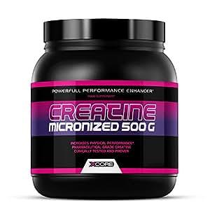 Xcore Creatine Micronized Powder 500g - Aumenta la Forza, la Resistenza e la Crescita Muscolare - Integratore Insapore - 100 Porzioni