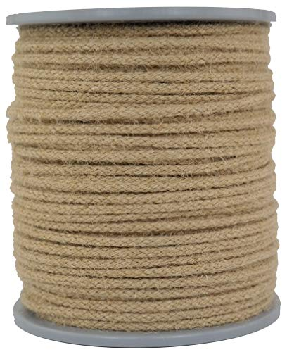 Juteseil/Seil aus Jute/Jutetau geflochten Natur Durchmesser ca.4mm - Länge: 100 Meter