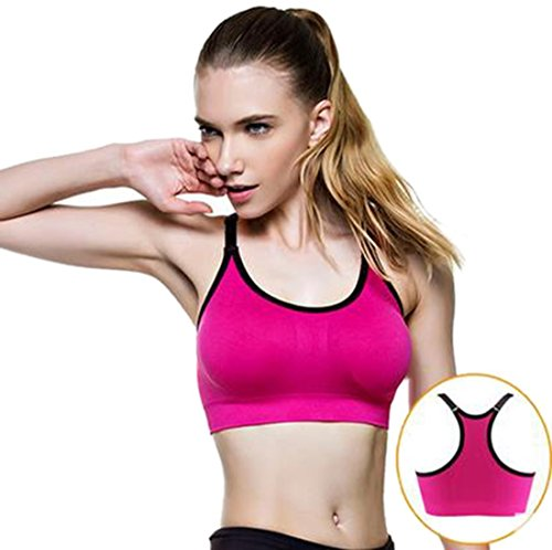 Minetom Donne Moda Gli Sport Reggiseno Fitness Yoga Formazione Imbottito