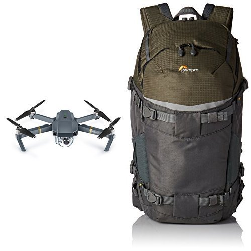DJI Mavic Pro Drone - Grey with Lowepro Flipside Trek BP 350 AW Backpack