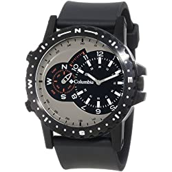 Columbia Men's CA002001 Waypoint Silver-Tone and Black Compass Analog Sports Watch