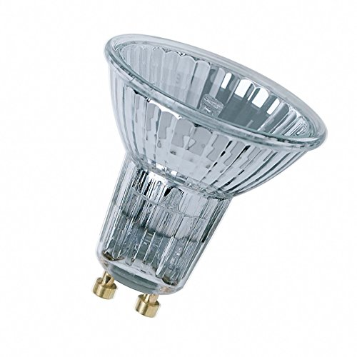 Osram Halogen-Reflektor, Halogen-Spot, GU10-Sockel, Dimmbar, 50 Watt, Warmweiß - 2800, 5er-Pack -