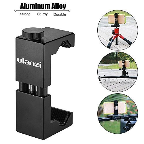 Metallo del treppiede con Cold Shoe mount-ulanzi smartphone Holder video Rig adattatore treppiede
