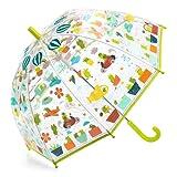 Kinder Regenschirm Stockschirm mit lustigen Fröschen transparent Djeco