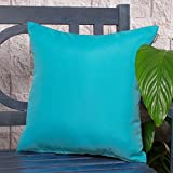 Gefüllte und Wasserfeste Gartenmöbelkissen, für Gartenstühle und Bänke - Türkis