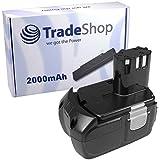 Trade-Shop–Batería de ion de litio de 14,4V/2000mAh para HITACHI DS14DVB DS14DAF2DS14DFL ds14dflg DS14DL DS14DVB2DS14DVB2K DS14DVF DS14DVF2DS14DVF3DV14DL DV14DMR DV14DV DV14DVA DV14DVKS wh14d WH14DA