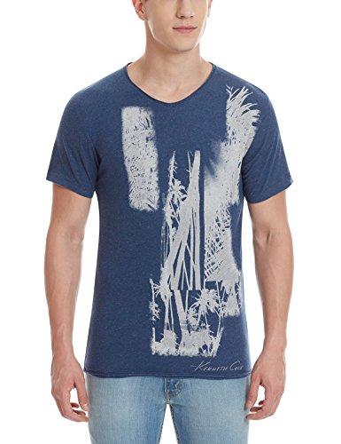 Kenneth Cole Men's T-Shirt (4100504790035_kcrss16ts05_Large_Harbor Melanie)