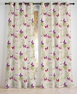 Rideau 100% lin 135x250 cm Butterfly