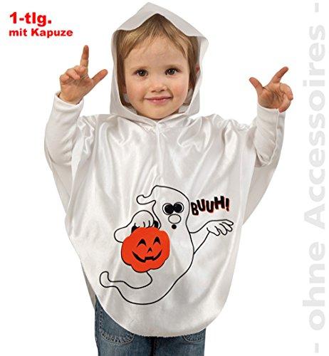 Kinderkostüm Geist Buuh Gr. 104/116 Halloween Kostüm Gespenst Umhang Überwurf Cape