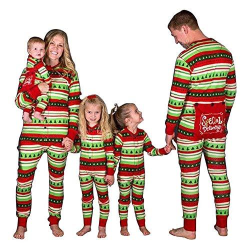 (Hzjundasi Flapjacks Onesie Weihnachten Familie Matching Pyjama - Erwachsene Kinder und Säugling PJs Xmas Feiertag Schlafanzüge Einteilig Nachtwäsche)