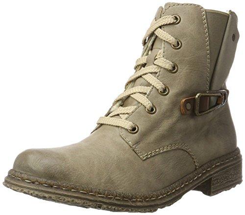 Rieker Damen 74242 Stiefel, (Kiesel/Mogano/Beige), 36 EU