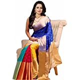 Saree (KBF New Catalog Of 2017 New Fashionable Sarees Clothing Saree Latest Designer Wear Sarees New Collection In Bhagalpuri Silk Material Latest Printed Saree With Blouse Piece Free Size For Women)