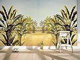 LHDLily 3D-Südostasiatischen Stil Malerei Bananenstauden Fernseher Sofa Hintergrund Wohnzimmer Schlafzimmer Coffee House Wallpaper Wandbild 300cmX200cm
