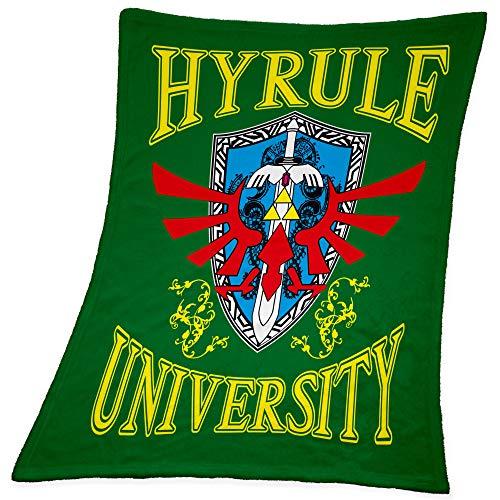 Compagno Babydecke Hyrule University kuschelweich für Mädchen und Jungen 95 x 80cm Baby Geschenk Geburt Decke