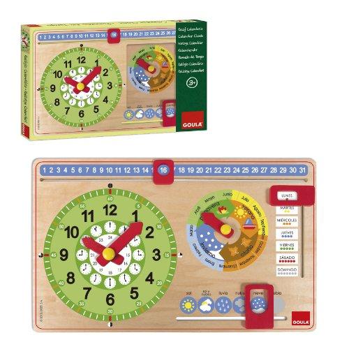 Goula - Reloj calendario castellano (51315)
