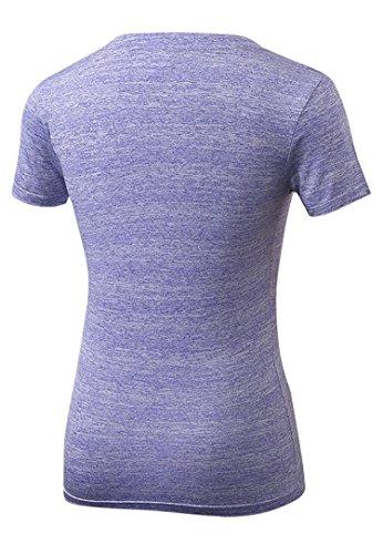 DD UP - T shirt et tops de sport - Compression Hauts Manche Courte - Débardeur Sport Femme purple