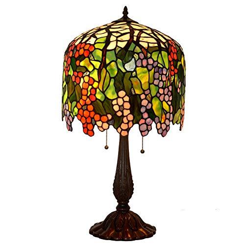 Light-GYH 18inch Tiffany-Art-Tischlampen, kreatives Retro- Buntglas-dekoratives Schreibtisch Lampsliving Raum-Schlafzimmer-Nachttischlampe - Regelmäßige 18-licht