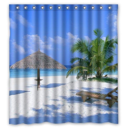 Nice Scenic ungewöhnlichen Bild Scenery Design Sea Oceans blau Wasserdicht Duschvorhang aus Stoff, 167,6x 182,9cm, Fleece, h, 66