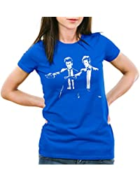 style3 Who Time Fiction T-Shirt Femme dalek dr. time police box Doctor space tv