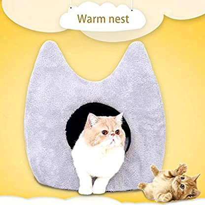 Easylifer Puppy Cat Cave House Bed igloo Pet Beds Warm Nest for Dog, Cats, Puppies, Guinea pig, Rabbits 7