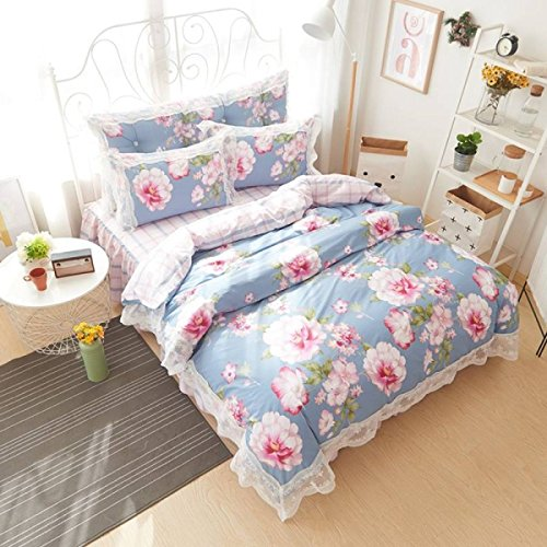 Eine Vierköpfige Familie Baumwollspitze Baumwolle Bettwäsche Decke Mehrfarbig Multi-size,K-150Cm