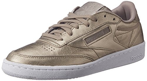 Reebok Damen Club C 85 Lthr Sneaker, Pearl Metallic-Grey Gold/White, 38 EU -